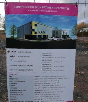 LOA outillage fait constuire un nouveau bâtiment sur la zone d'activité de Bretteville sur Odon